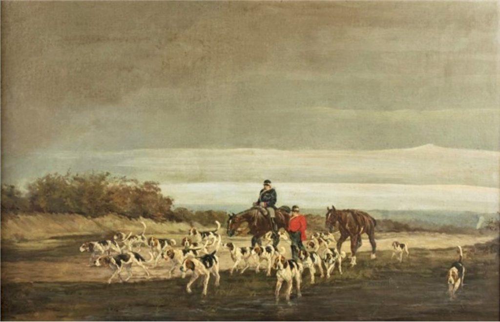 Auguste de Molins, 18xx, Les chasseurs, 60x94, A2018/06/07