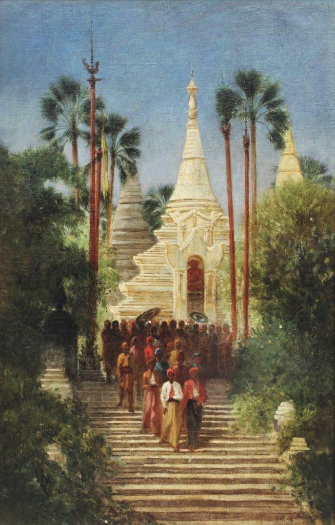 Auguste de Molins, 1858-61ca, Pagodes dans l'île de Poulo Penang, 54x35, A2017/06/14