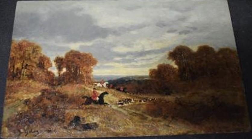 Auguste de Molins, 18xx, Scènes de chasse à cour, 18x28, A2017/09/05