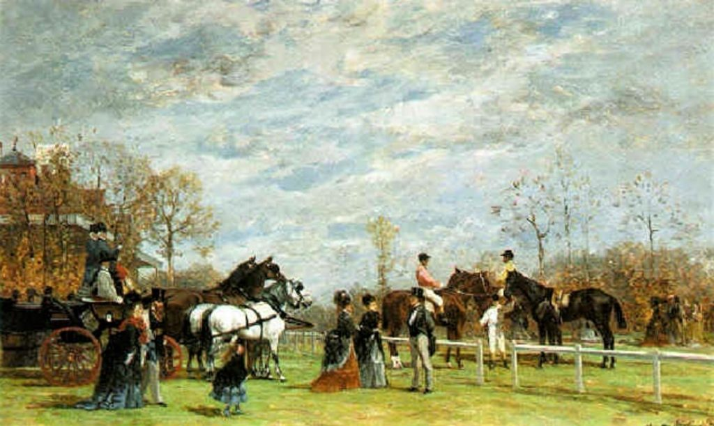 Auguste de Molins, 18xx, a day at the races, 33x54, A1996/11/13