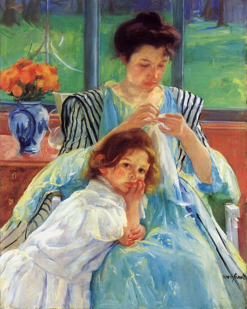 Mary Cassatt, 1902, CR415, Young Mother sewing, 92x74, Metropolitan