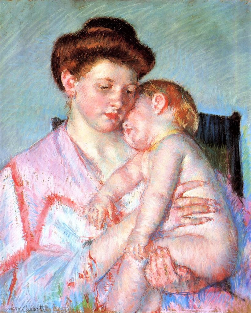 Mary Cassatt, 1910ca, Sleepy Baby, pastel, 65x52, Dallas MFA