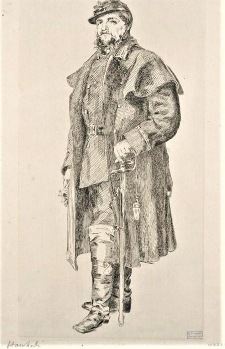 Félix Bracquemond, 1IE-1874-24-3, Portrait de M Hoschedé. Now: 1871, B63 Hoschedé, d'après nature, etch, 30x20, NYPL (iR61;iR10;R90II,p15;R2,p119;R85,no63).