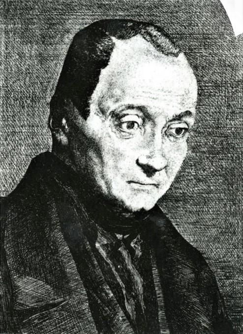 Félix Bracquemond, 1IE-1874-24-5, Portrait de M Aug Comte. Option 1: 1851, B22, portrait d'Auguste Comte, fondateur de la religion de l'humanité, etch, 19x14, VMFA Richmond (iR10;Mx;R85,no22;R52,p138-9;R2,p119;R90II,p16)