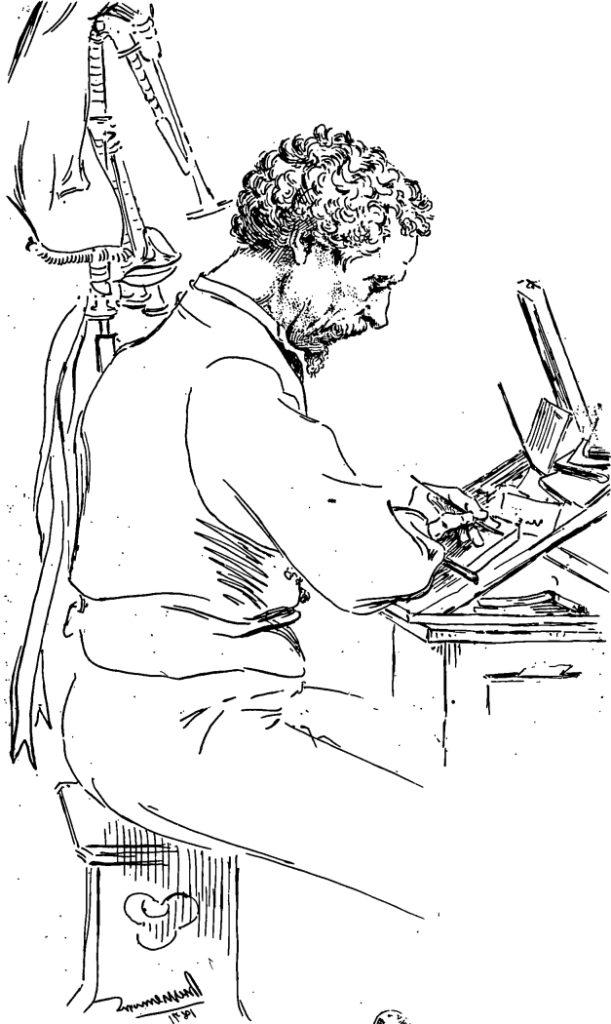Félix Bracquemond, 1IE-1874-24-6, Portrait de M. Ch. Kean. Now: 1871, B66, Charles Kean, etch, 23x17, in 1884, Gazette des Beaux-Arts + 1891/04, L'Artiste (iR6;iR48;R2,p119;R90II,p16)