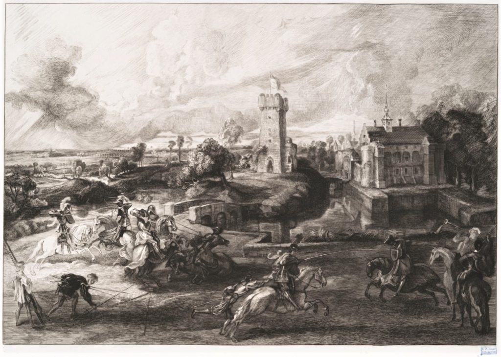 Félix Bracquemond, 1IE-1874-25-4 Le Tournoi. Now: 1862-64, B274, Un tournoi, d'après Rubens, etch, 34x44, BM London (iR10;iR105;iR1;R2,p119;R90II,p17) =SdR1863-658 + S1864-2850.
