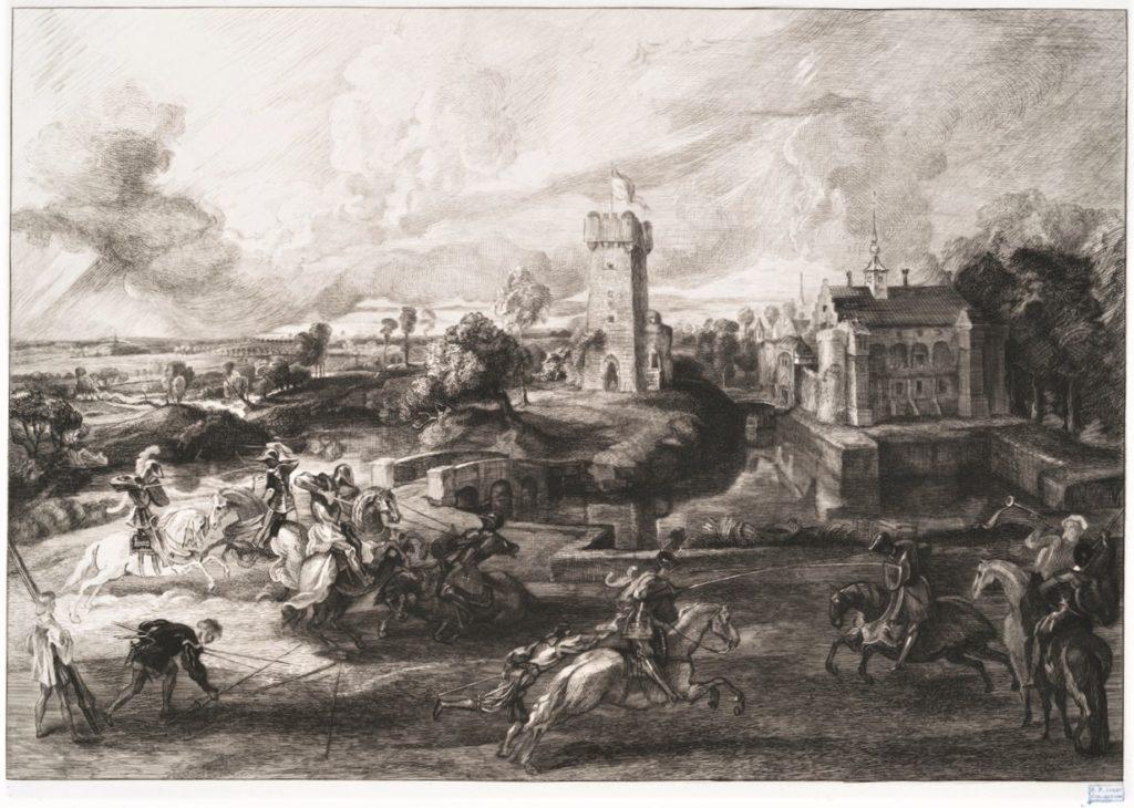 Félix Bracquemond, 1IE-1874-25-4 Le Tournoi, d'après Rubens. Now: 1862-64, B274, A tournament (after Rubens), etch, 34x44, BM London (iR10;iR105;iR1;R2,p119;R90II,p17) =SdR1863-658 + S1864-2850.