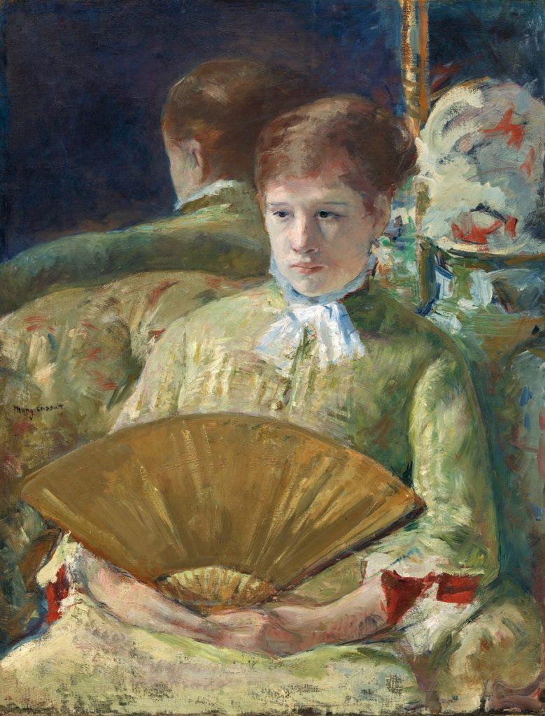 Mary Cassatt, 4IE-1879-48, Étude de femme avec évantail. Maybe: 1877-80, CR80, Woman with a fan (Miss Mary Ellison), 85x65, NGA-Washington (iR92;iR2;iR3;iR59;R90II,p108+126;R187,no80;R2,p267)