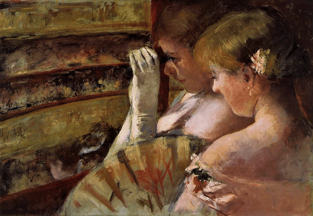 Mary Cassatt, 4IE-1879-56+hc, In the Box. Now: 1879, CR62, A Corner of the Loge (In the Box), 43x62, private (iR2;iR92;iR3;R2,p256;R90II,p127;R187,no62)