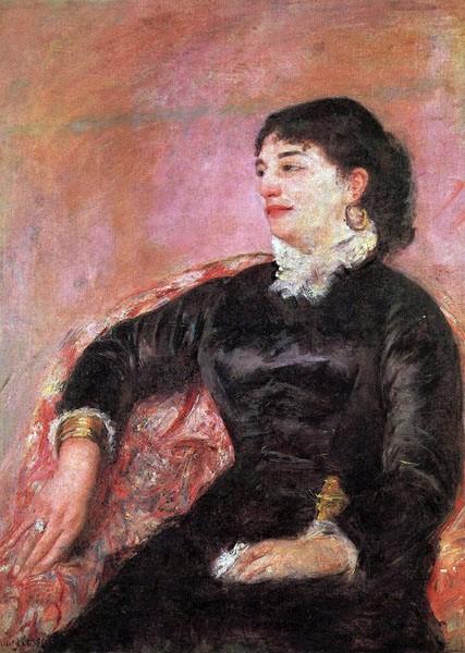 Mary Cassatt, 5IE-1880-19, Portrait de Mlle H. Very uncertain: 1878, Portrait of an Italian Lady, 80x59, GM Tulsa (aR1;iR92;R2,p311)
