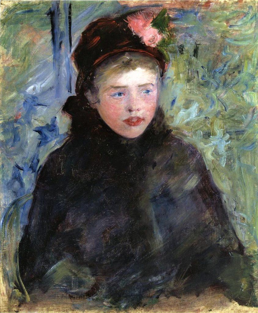Mary Cassatt, 5IE-1880-24, jeune femme Compare: 1881-82ca, CR105, Susan in a Toque Trimmed with Two Roses (la jeune femme), 53x46, private (iR92;iR10;R2,p311;R187,no105)