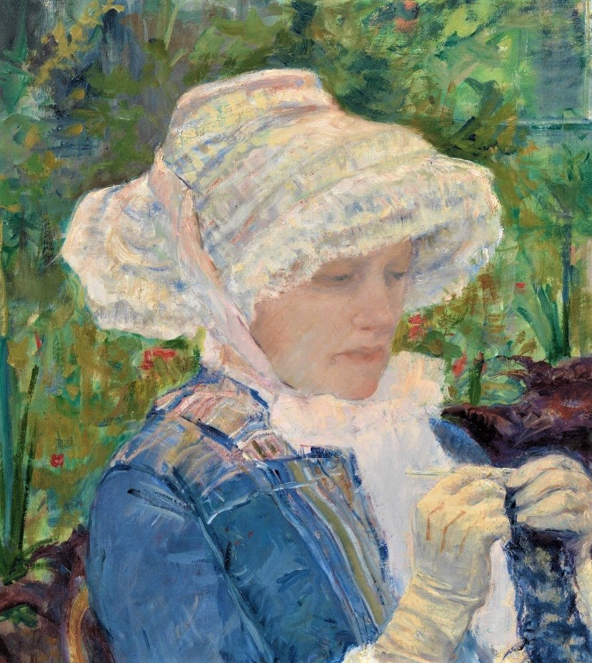 Mary Cassatt, 5IE-1881-2, Le jardin. Now: 1880, Lydia crocheting in the garden at Marly (detail), 66x94, Metropolitan
