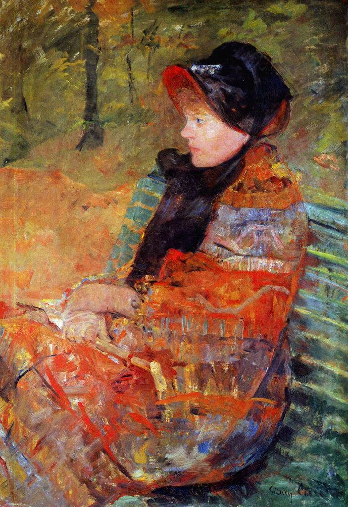 Mary Cassatt, 6IE-1881-3, L'Automne. Probably: 1880, CR96?, Portrait of Mlle C. Lydia Cassatt (Autumn), 93x65, MPP Paris