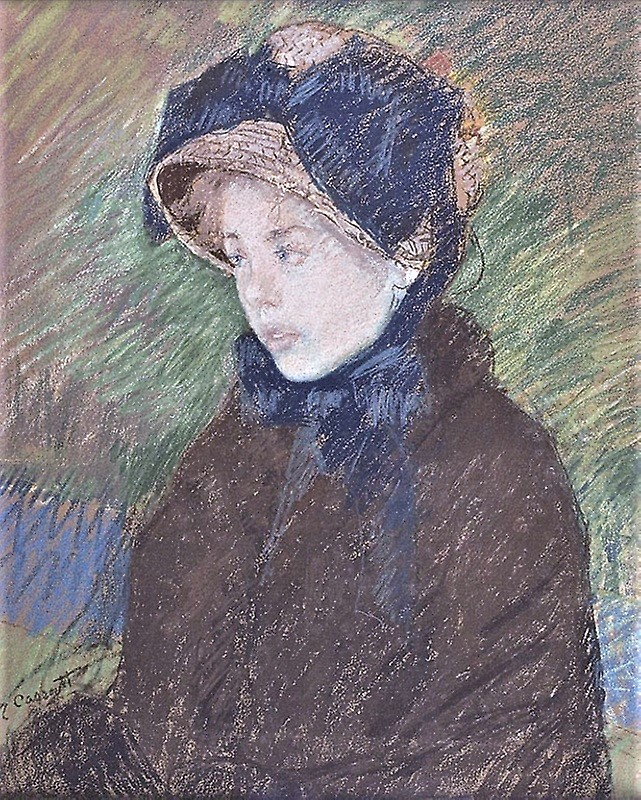 Mary Cassatt, 6IE-1881-5, Tête de jeune fille, pastel. Uncertain: 1880, CR106, Portrait of a Young Girl, pastel, 60x50, AI Chicago (iR92;R90II,p179+189;R2,p353;R187,no106)