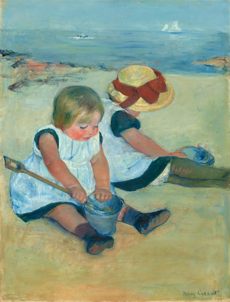 Mary Cassatt, 8IE-1886-11, Enfants sur la plage. Now: 1884, CR131, (Two) children playing on the Beach , 97x74, NGA Washington (iR92;iR2;iR3;iR59;R2,p451;R90II,p239+258;R44,p79)