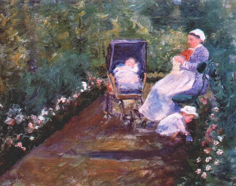 Mary Cassatt, 8IE-1886-12, Enfants au jardin. Now: 1878, CR57, Children in a Garden (The nurse), 73x92, MFA Houston (iR92;iR2;iR59;aR1;iR2;R90II,p239+258;R2,p444)