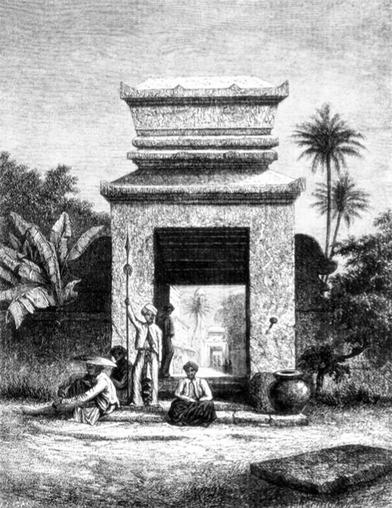 Auguste de Molins, copied by Bar, after 1863, Entrée de la mosquée de Soërabaija, dr, xx, xx (aR7). Compare: S1863-1332 Porte d'entrée de la mosquée de Soërabaija (île de Java). (iR1)
