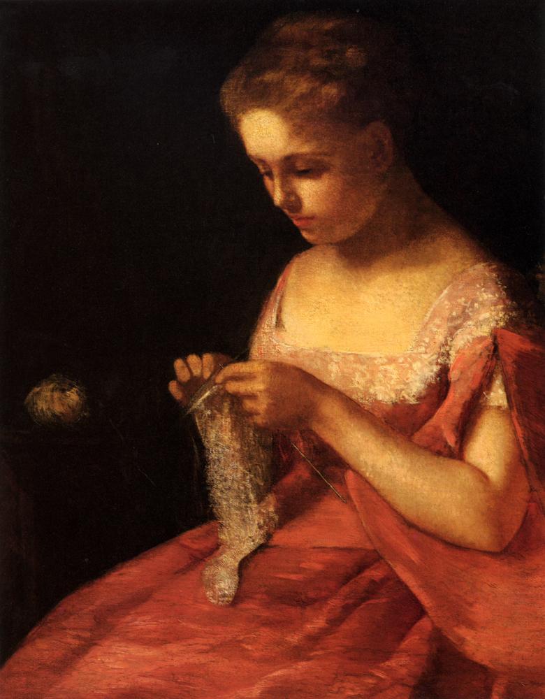 Mary Cassatt, S1876-352, Mlle Mary Cassatt, Portrait de Mme W... Very uncertain: 1875, CR44, The Young Bride, 87x69, private (iR92;iR50;iR1;aR1;R187,no44)