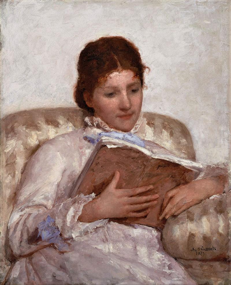 Mary Cassatt, S1877-R2 Very uncertain: 1877, CR50, The Reader, 81x65, CBAM Bentonville (iR3;iR2;iR92;iR1;R187,p43).