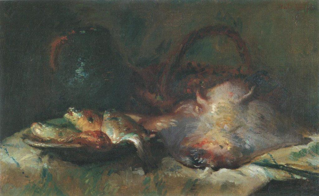 Adolphe-Félix Cals, 1873, Nature morte à la raie (Still life with stingray), 38x62, MB Honfleur (R51,p61)