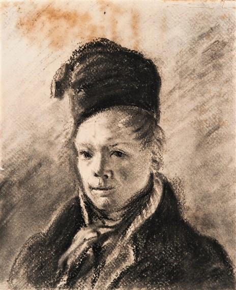Adolphe-Félix Cals, 1820-35ca (HW), autoportrait, drawing, 24x20, A2013/04/12 (iR11)