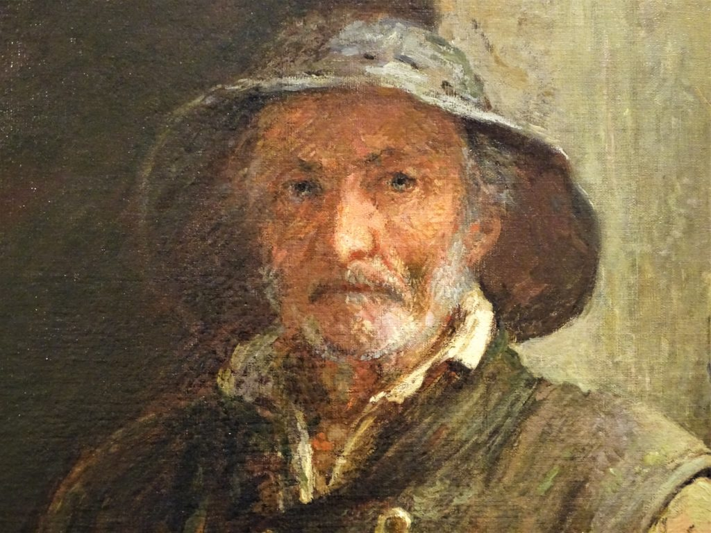 Adolphe-Félix Cals, 1IE-1874-38, Vieux pêcheur. Now: 1873, Vieux Pêcheur (old fisherman; detail), 116x89, private (HW;R45,p68;R2,p120;R90II,p6+21;R177,p175)