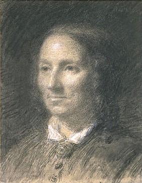Adolphe-Félix Cals, 2IE-1876-33, Portrait de Mme X... (dessin). Maybe: 1876, Portrait de femme, de trois quarts vers la gauche, dr, 36x28, Louvre (iR23;R2,p161)