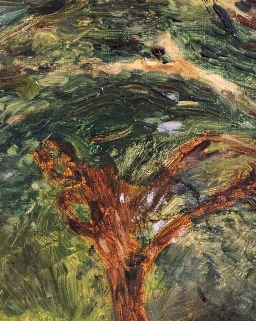 Adolphe-Félix Cals, 3IE-1877-7, La cour Saint-Siméon, à Honfleur. Maybe: 1876-79, Honfleur Saint-Siméon, Grande Cour (detail), xx, MBA Caen (HW;R2,p203;R90II,p70)