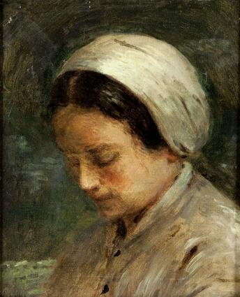 Adolphe-Félix Cals, 4IE-1879-34, Étude, tête de femme. Uncertain: 1877, Femme de profil, 38x32, xx (iR10;iR17;R2,p267)
