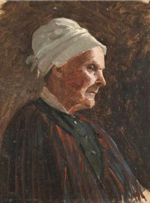 Adolphe-Félix Cals, 4IE-1879-38, La Grand'mère. Maybe: 18xx, Portrait d'une femme âgée, 21x17, A1995/03/19 (iR12;iR10;R2,p267;R90II,p108)