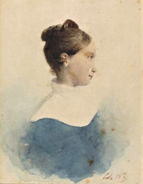 Adolphe-Félix Cals, S1836-284, Jeune femme, étude. Very uncertain: 1839(??), xx (portrait de femme), xx, xx (iR93;iR10)