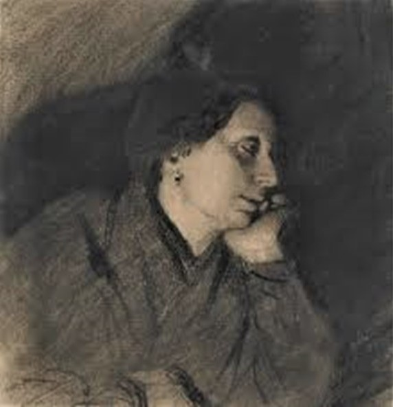Adolphe-Félix Cals, S1843-166, La contemplation. Compare: 1872 (or32), rêverie (daydreaming(, dr, 14x14, MNM Dijon (iR10;iR23;iR1)