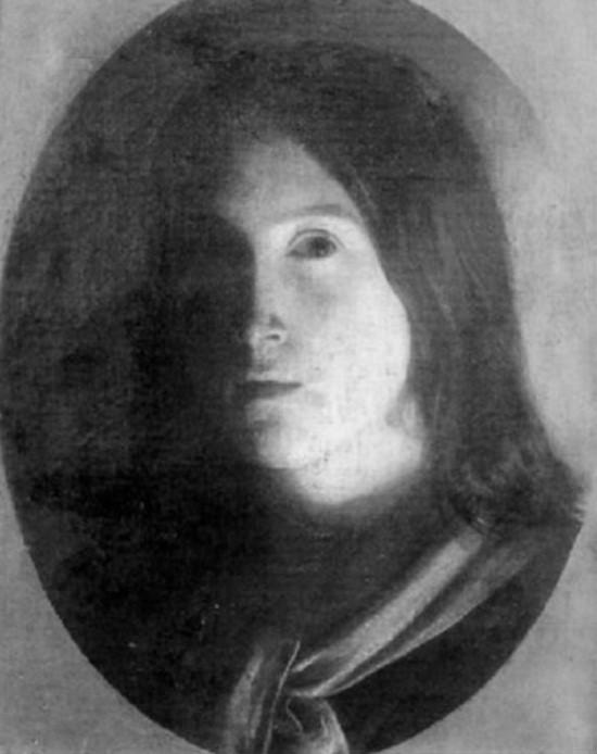 Adolphe-Félix Cals, S1844-258, Tête de jeune fille, effet de lampe. Uncertain: 1843, Portrait de jeune fille, 39x31, A1999/10/27 (iR13;iR1)