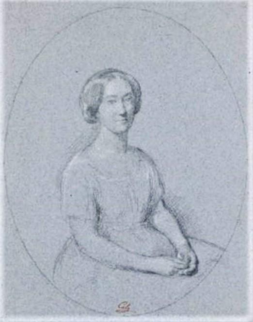Adolphe-Félix Cals, S1845-251, Portrait de Mme C... Compare: 18xx, Portrait présumé de Mme Cals, dr, 35x28, A2009/03/29 (iR13;iR10;iR1).