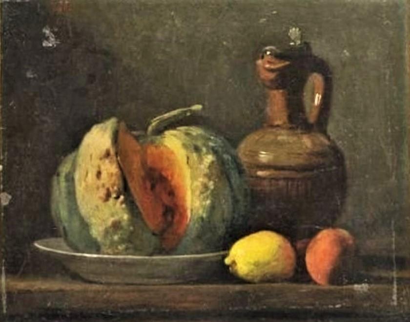 Adolphe-Félix Cals, S1848-721, Nature morte. Uncertain: Cals, 18xx, Nature morte aux agrumes (Still life with citrus fruits), 24x28, A2010/10/24 (iR13;iR1)