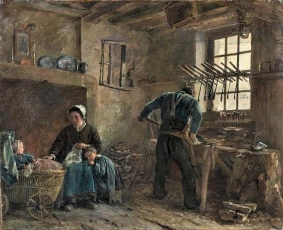 Adolphe-Félix Cals, SdR1863-61, Le ménage du sabotier. Maybe: 18xx, La famille du sabotier, 60x74, A2017/03/23 (iR11;iR1)