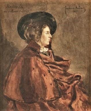 Zacharie Astruc, 1867, Ida en costume de Castilla, wc, 20x16, A2016/12/16 (iR11;iR13)