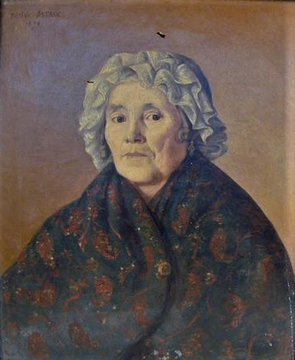 Zacharie Astruc, 1873, Femme au châle, 65x54, Musée vieux Toulouse (iR23)