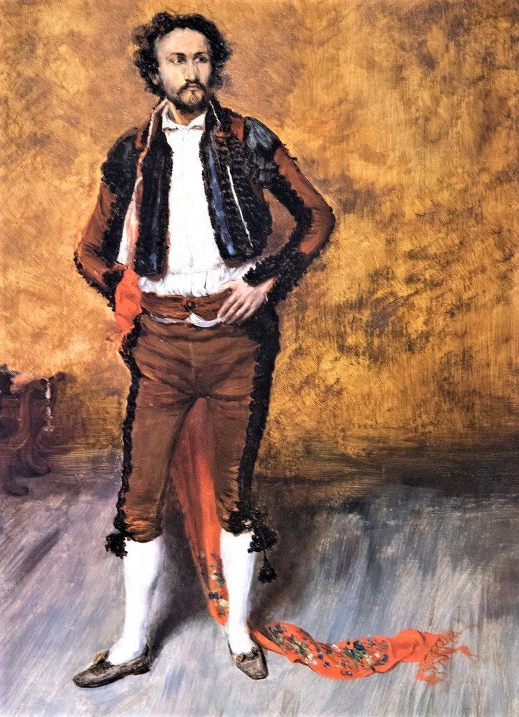 Zacharie Astruc, 1880, La Toilette de Torero, xx, PP Paris (iR10;iR94;iR1) Compare: SdAF-1884-51, Répétition d'acteurs du vieux drame espagnol.