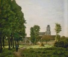 Edouard Béliard, 1881ca, L'Ouche de Saint-Martin (detail), xx, MdÉtampes. Probably: S1881-121, L'housche de Saint-Martin, à Étampes.