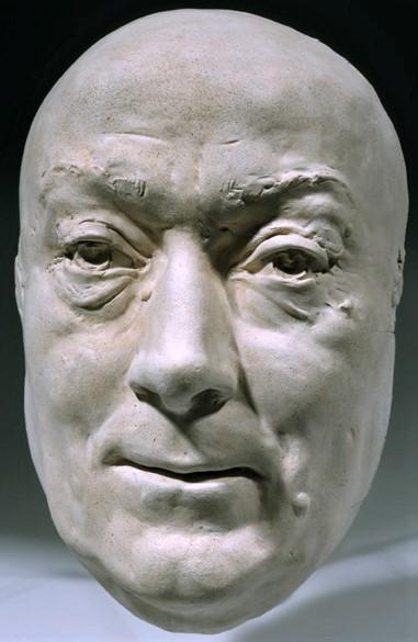 Zacherie Astruc, 1882, Mask of Théodore de Banville, plaster, 25cm, MdAngers (iR23;iR1) = SdAF-1882-4069-3, Le marchand de masques; statue, plâtre: De Banville.