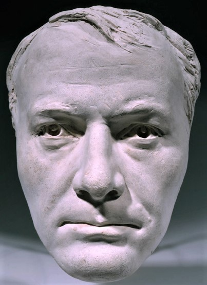 Zacharie Astruc, 1889ca, Mask of Baudelaire, plaster, 25cm, MBA Angers (iR23;iR1) Maybe: SdAF-1889-3990, Portraits masques; Sculpture.