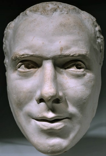 Zacharie Astruc, 1889ca, Mask of Coquelin-Cadet, plaster, 25cm, MBA Angers (iR23;iR1) Maybe: SdAF-1889- 3990, Portraits masques; Sculpture