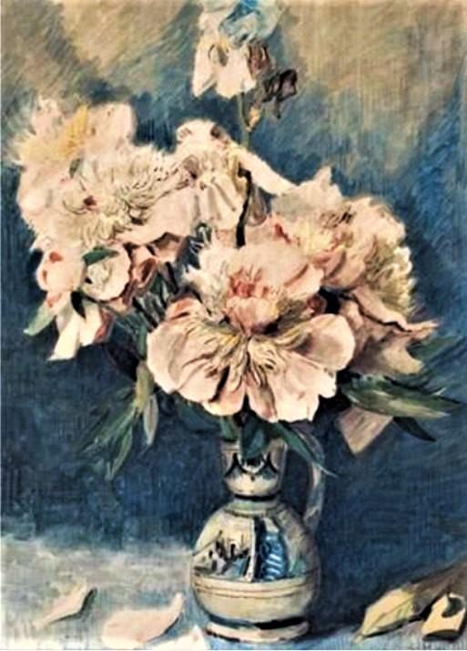 Zacharie Astruc, 18xx, Bouquet dans un vase, wc, 72x53, xx