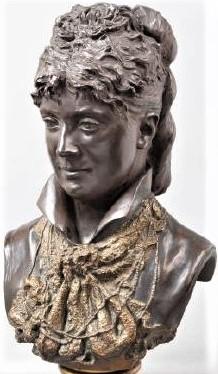Zacharie Astruc, 18xx, Buste de femme, sc, h48, xx (iR10;iR12;iR1) Compare: S1877-3575, Portrait de Mme I.-Z. Astruc; buste, plâtre.