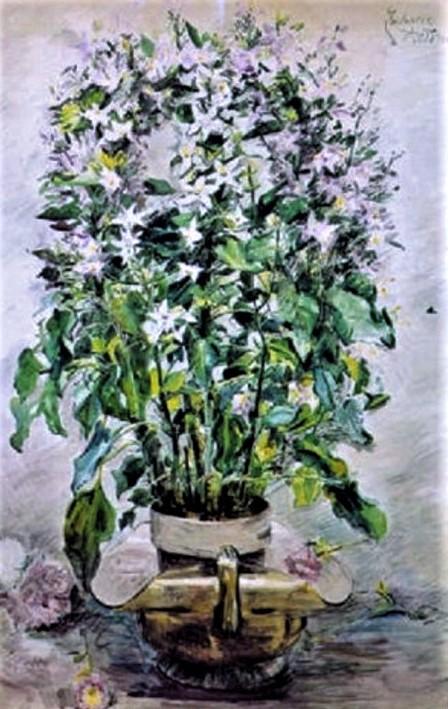 Zacharie Astruc, 18xx, Fleurs en pot, wc, 106x70, A2001/04/05 (iR13;iR11)