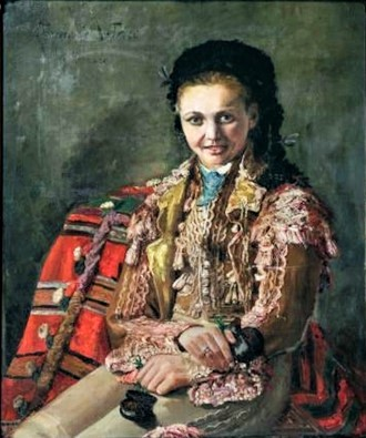 Zacharie Astruc, 18xx, Portrait de femme en costume de torera, 81x65, A2017/08/13 (iR11;iR18)