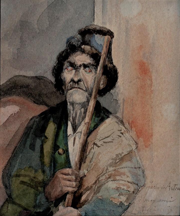 Zacharie Astruc, 18xx, Vieillard (berger Espagnol(?); à Octave Lacroix), wc, 12x10, private (iR10;iR94;iR4)
