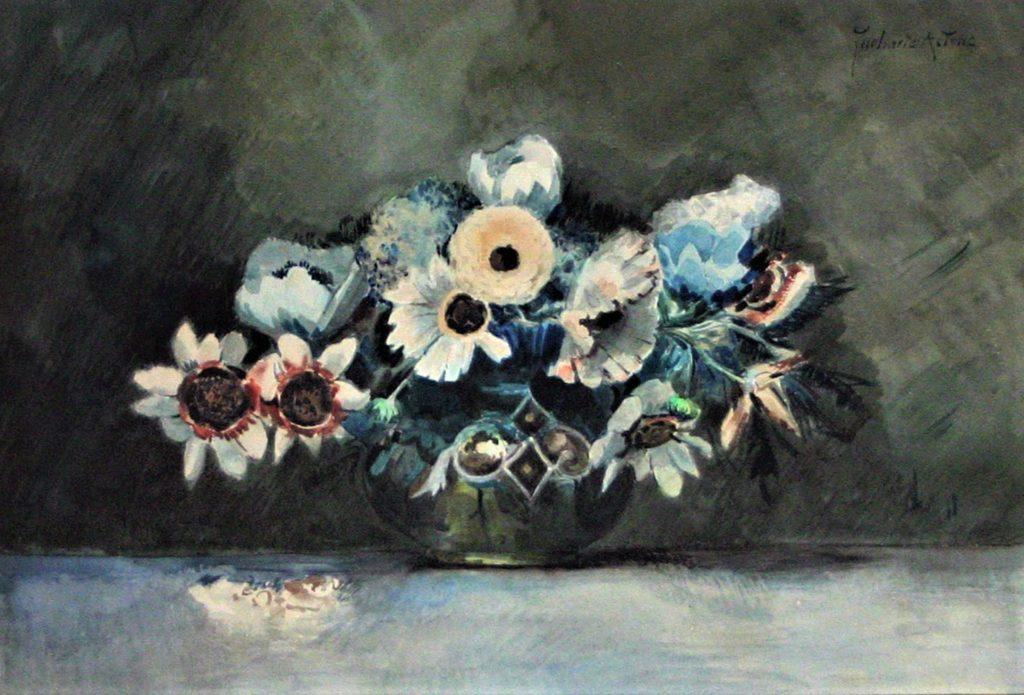 Zacharie Astruc, 18xx, bouquet, wc, xx, xx (iR10;iR1) Compare: SdAF-1889-2798, Anémones en caisse; aquarelle.