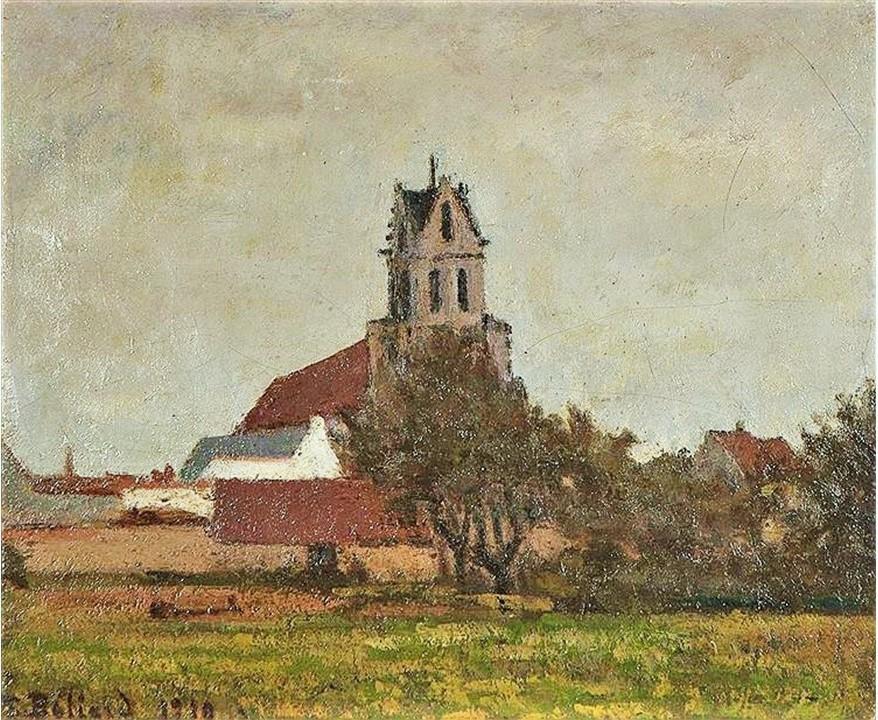 Edouard Béliard, 1910, Hamlet on the Oise, 39x46, A2017/10/25